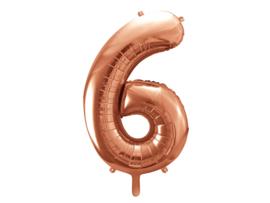 Cijfer XL Folieballon 6 - Rosé