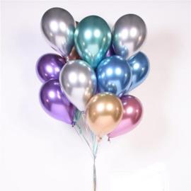 Chroom Ballonnen Mauve