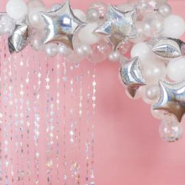 Ballonnenboog iridescent-wit Stargazer