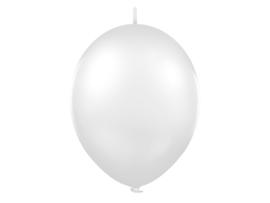 Doorknoopballonnen Wit