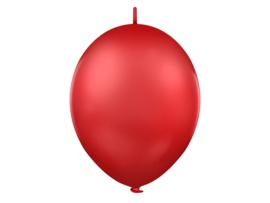 Doorknoopballonnen  Rood