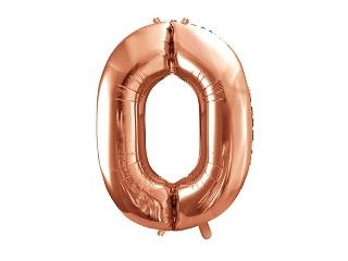 Cijfer XL Folieballon 0 - Rosé