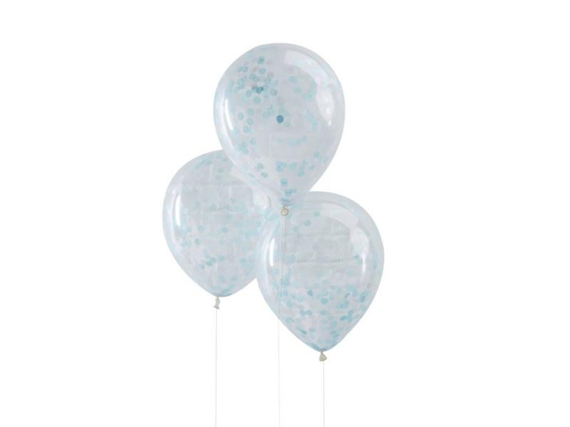 Confetti Ballonnen Blauw