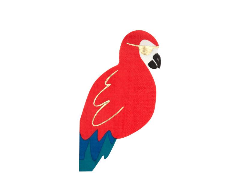 Servetten Pirate Parrot