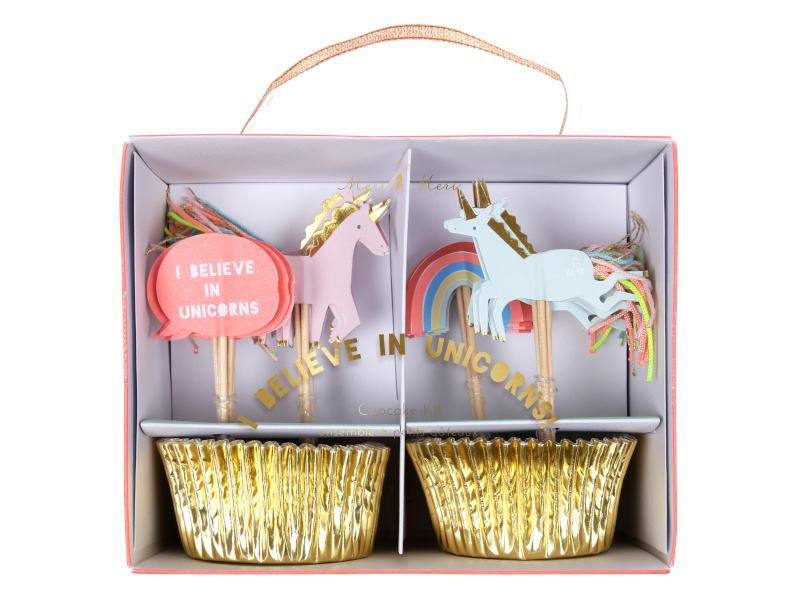 Cupcake set - Unicorns
