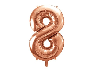 Cijfer XL Folieballon 8 - Rosé