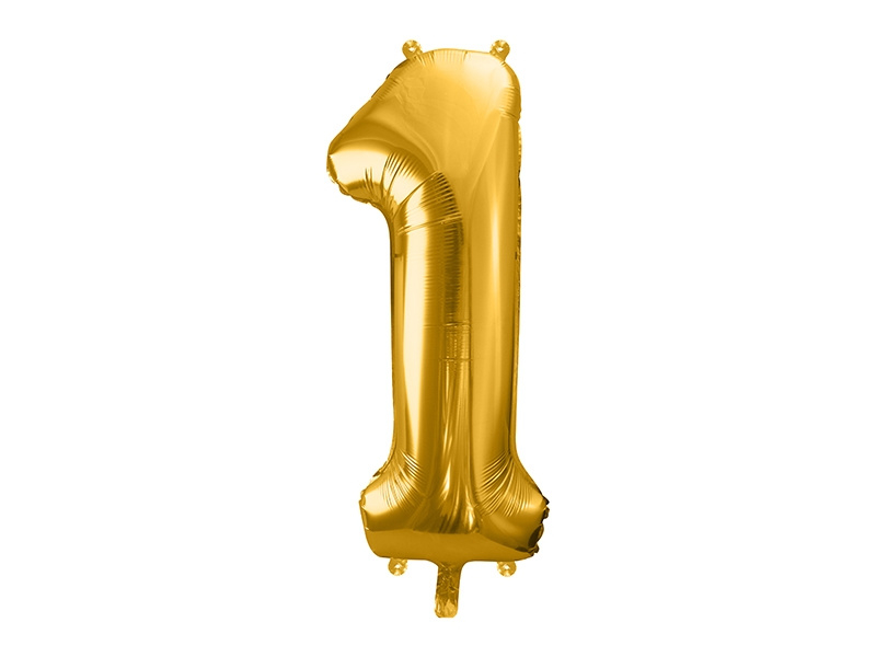 Cijfer XL Folieballon 1 - Goud