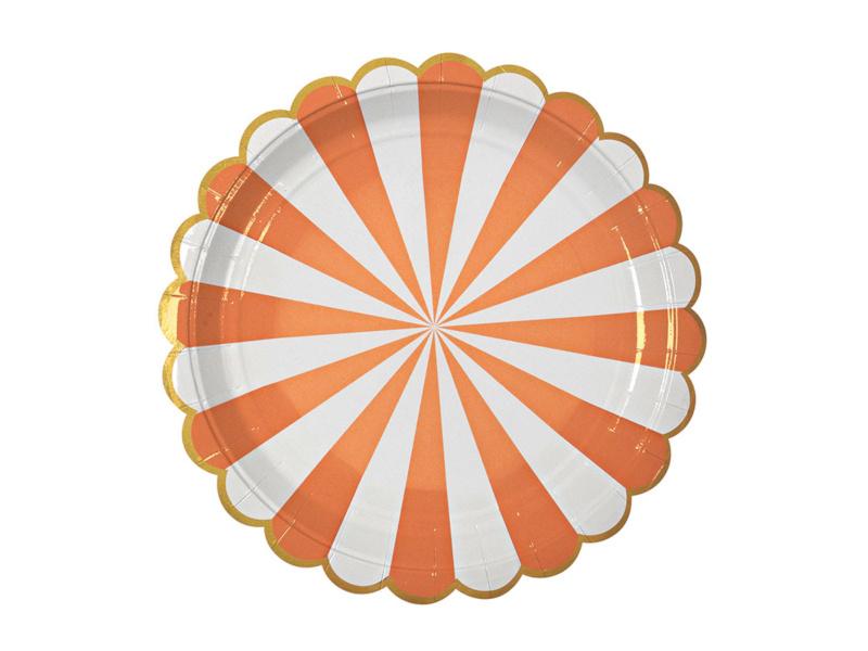 Bordjes Gestreept Oranje