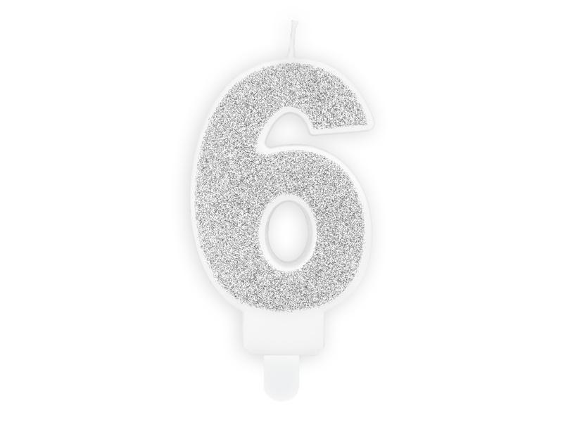 Kaarsje 6 Zilver