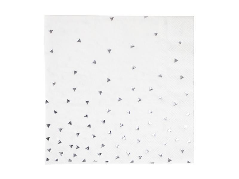 Servetten Zilveren Driehoekjes