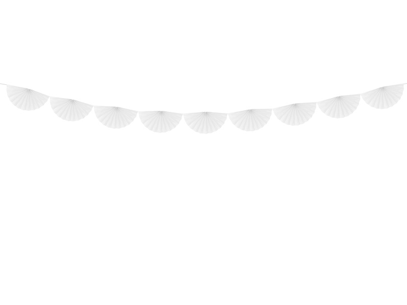 Slinger rozetten wit