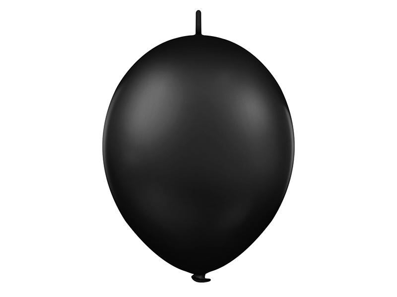 Doorknoopballonnen Zwart