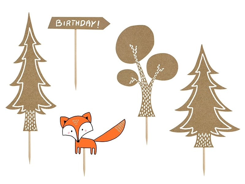Cake Toppers - Woodland