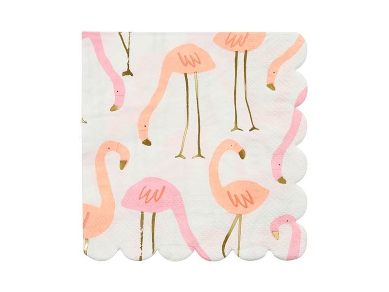 Servetten Flamingo's