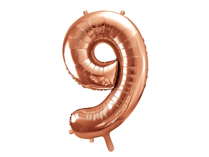 Cijfer XL Folieballon 9 - Rosé