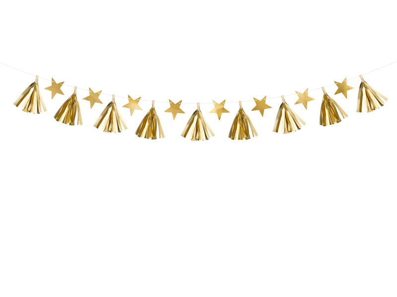 Slinger sterren goud