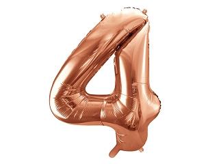 Cijfer XL Folieballon 4 - Rosé