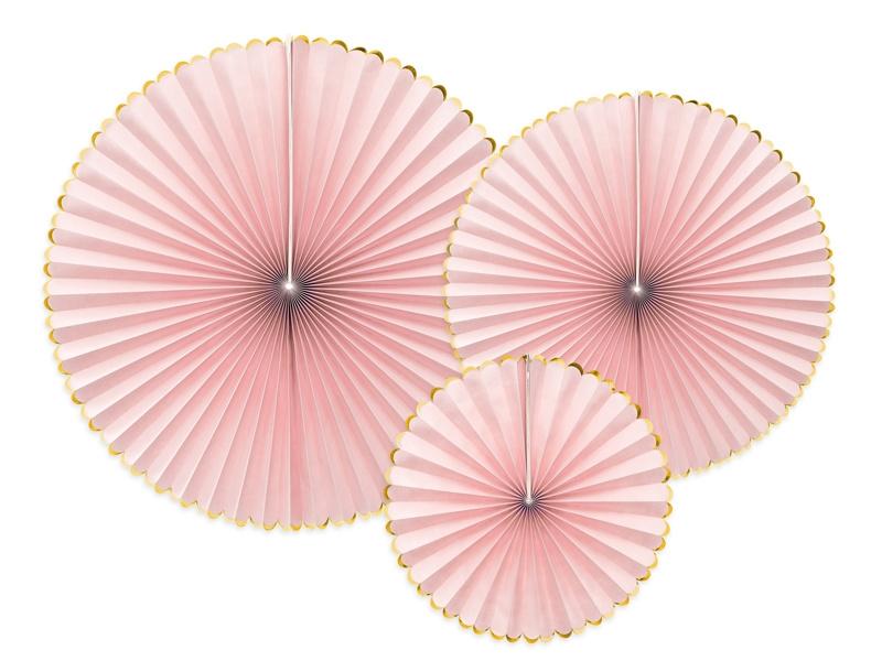 Papieren waaiers Roze
