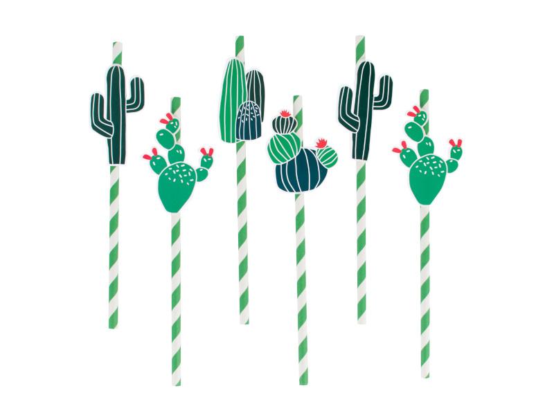 Papieren Rietjes Cactus