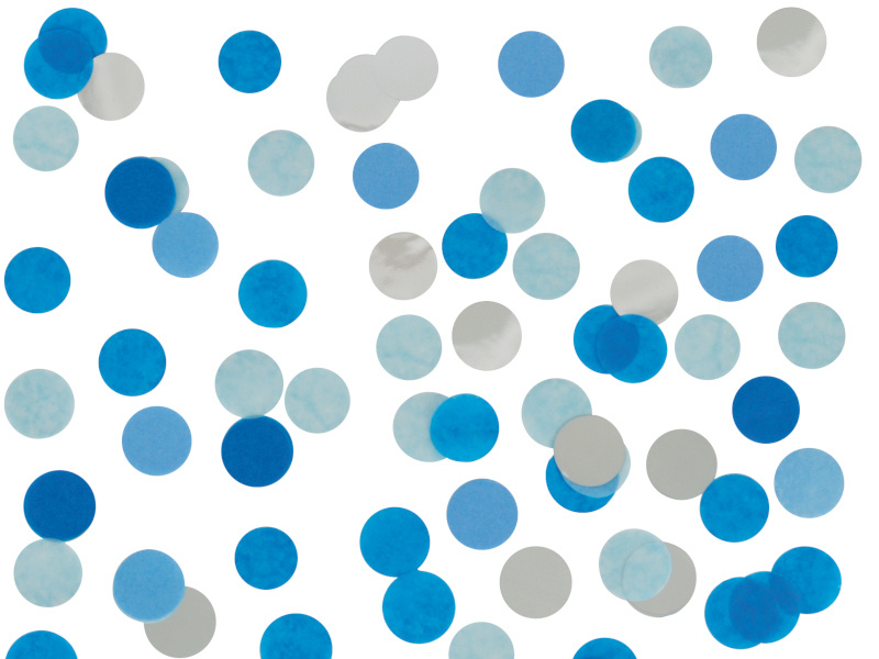 Confetti Blauw