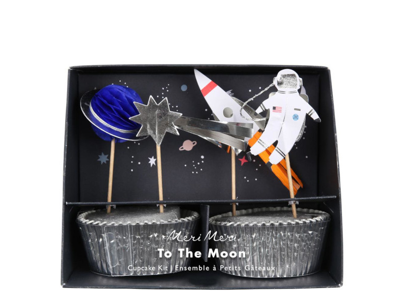 Cupcake Set - To The Moon