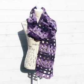 Window Pane sjaal paarstinten