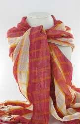 Sjaal met blockmotief