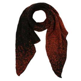 Sjaal gemêleerd zwart met roestbruin