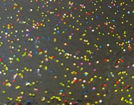Vestspeld rond met glitters  - D14151