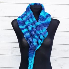 Rijgsjaal blauwtinten