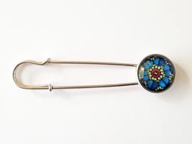 Vestspeld bloem blauw-wit - TSH00218