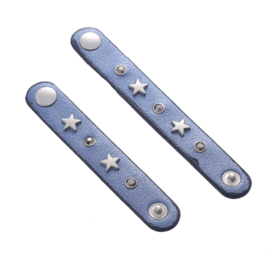 Sjaalriempjes blauw met sterren - set van 2