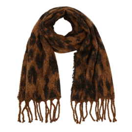 Sjaal dierenprint bruin zwart