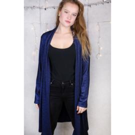 Vest glitter donkerblauw