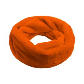 Furry loop colsjaal oranje