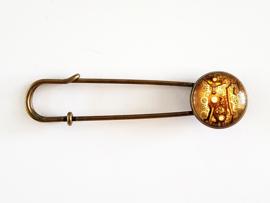 Vestspeld steampunk kat - bronskleur - TSH00233