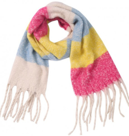 Sjaal multicolor gestreept