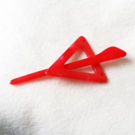 Vestspeld driehoek rood klein - D12227-19