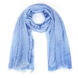 Sjaal met spuitprint blauw