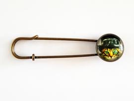 Vestspeld steampunk kat - bronskleur - TSH00231