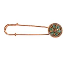 Vestspeld rosegoud met een mooie mandala - TSH00340