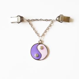 Vestsluiting yin yang paars/lila - TSH00041