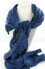Sjaal met noppen - blauw