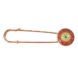 Vestspeld rosegoud rood oranje groen - TSH00346