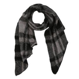 Sjaal geblokt zwart met grijs