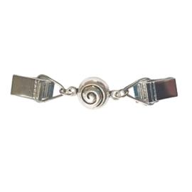 Vestsluiting zilverkleur spiraal - kort - TSH00334