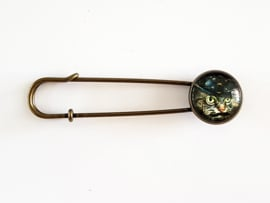 Vestspeld steampunk kat - bronskleur - TSH00230