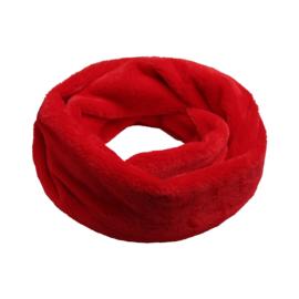 Furry loop colsjaal rood