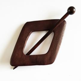 Vestspeld wiebertje donker hout - D12001c
