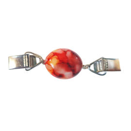 Vestsluiting kraal roze rood geel - kort - TSH00330